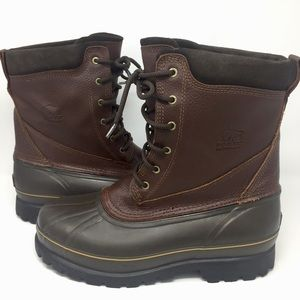 Sorel Men's Coalhurst Brown Leather Winter Boots